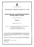 CRR 61/1993 Stress research and stress management - HSE