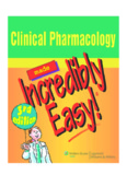 Clinical Pharmacology made Incredibly Easy!®, Third Edition