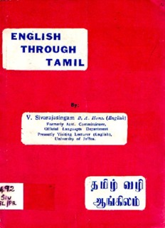 Easy Way To Learn Hindi Through Tamil Pdf