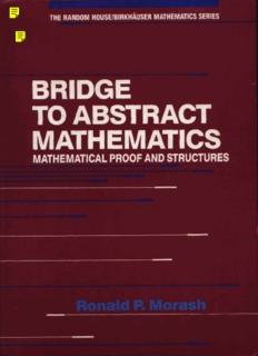Bridge to Abstract Mathematics: Mathematical Proof and Structures
