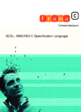 ACSL: ANSI/ISO C Specification Language - Frama-C