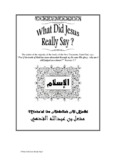 What did jesus really say? - PDF
