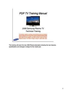 PDP TV Training Manual - Lcd Tv Repair