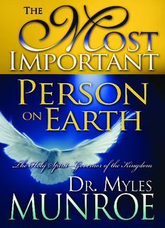 The Holy Spirit, Governor of the Kingdom by Dr. Myles Munroe