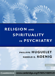 Philippe Huguelet MD (Author), Harold G. Koenig MD (Author) - Religion and Spirituality in Psychiatry.pdf