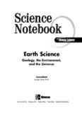 Science Notebook Earth Science: Geology, the Environment, and the