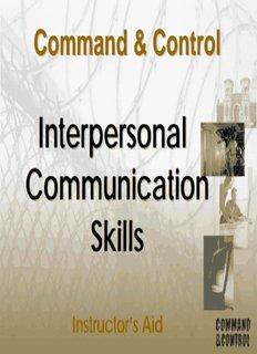Interpersonal Communication Skills Skills