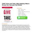[PDF] Give and Take: Why Helping Others Drives Our Success Full Online