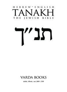 Hebrew-English Tanakh_ The Jewish Bible - Holy Language Institute ( ebfinder.com ).pdf