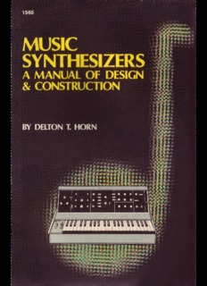 Music Synthesizers - A Manual Of Design & Construction