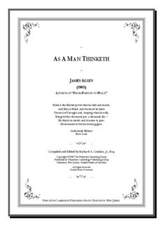 As A Man Thinketh by James Allen (1903) Exclusive SelfGrowth