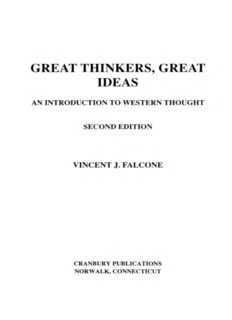 GREAT THINKERS, GREAT IDEAS - Stamford High School