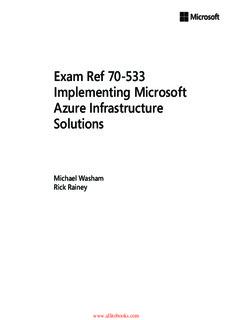 Exam Ref 70-533 Implementing Microsoft Azure