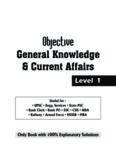 Objective General Knowledge _ C – Disha Experts – Level 1(1)