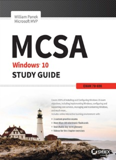 MCSA Windows 10 Study Guide: Exam 70-698