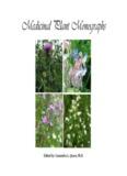 Medicinal Plants Monograph