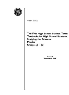 Textbooks for High School Students Studying the Sciences Physics Grades 10