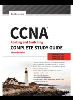 CCNA Routing and Switching Complete Study Guide Exam 100-105, Exam 200-105, Exam 200-125
