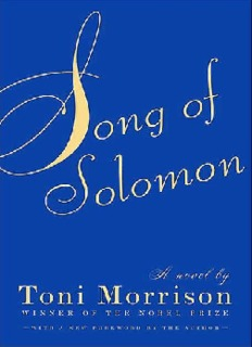 Morrison – Song of Solomon - Alan Reinstein