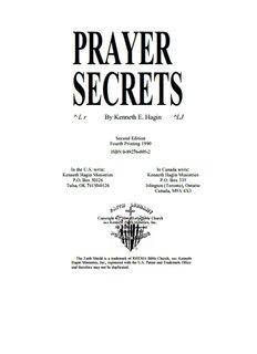PRAYER SECRETS By Kenneth E. Hagin
