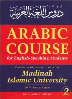 Lessons in Arabic Language, Book 2