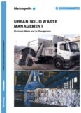 Solid Urban Waste Management. Managing Municipal Waste. Commission 3