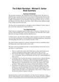 The E-Myth Revisited – Michael E. Gerber Book Summary