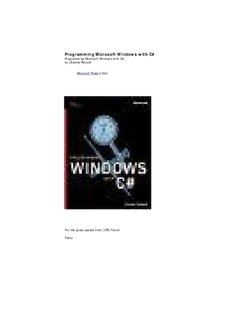 Programming Microsoft Windows with C