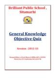 General Knowledge Objective Quiz - Brilliant Public School Sitamarhi