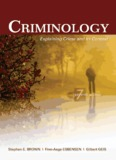 CRIMINOLOGY Explaining Crime and Its Context seventh edition