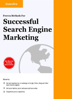 Proven Methods For Successful Search Engine Marketing