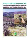 Washington Ground Squirrel Surveys in Adams, Douglas, and Grant Counties, Washington, 2004