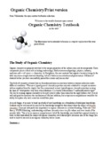 Organic Chemistry/Print version Organic Chemistry Textbook