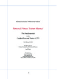 Personal Fitness Trainer Manual