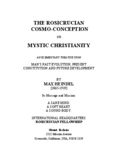 Mystic Christianity: Man's Past Evolution and Future Development