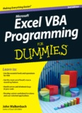 Excel® VBA Programming For Dummies®, 3rd Edition